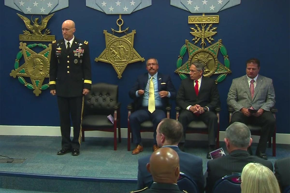 Three DoD Contractors Get Highest Civilian Valor Award for Afghan Actions