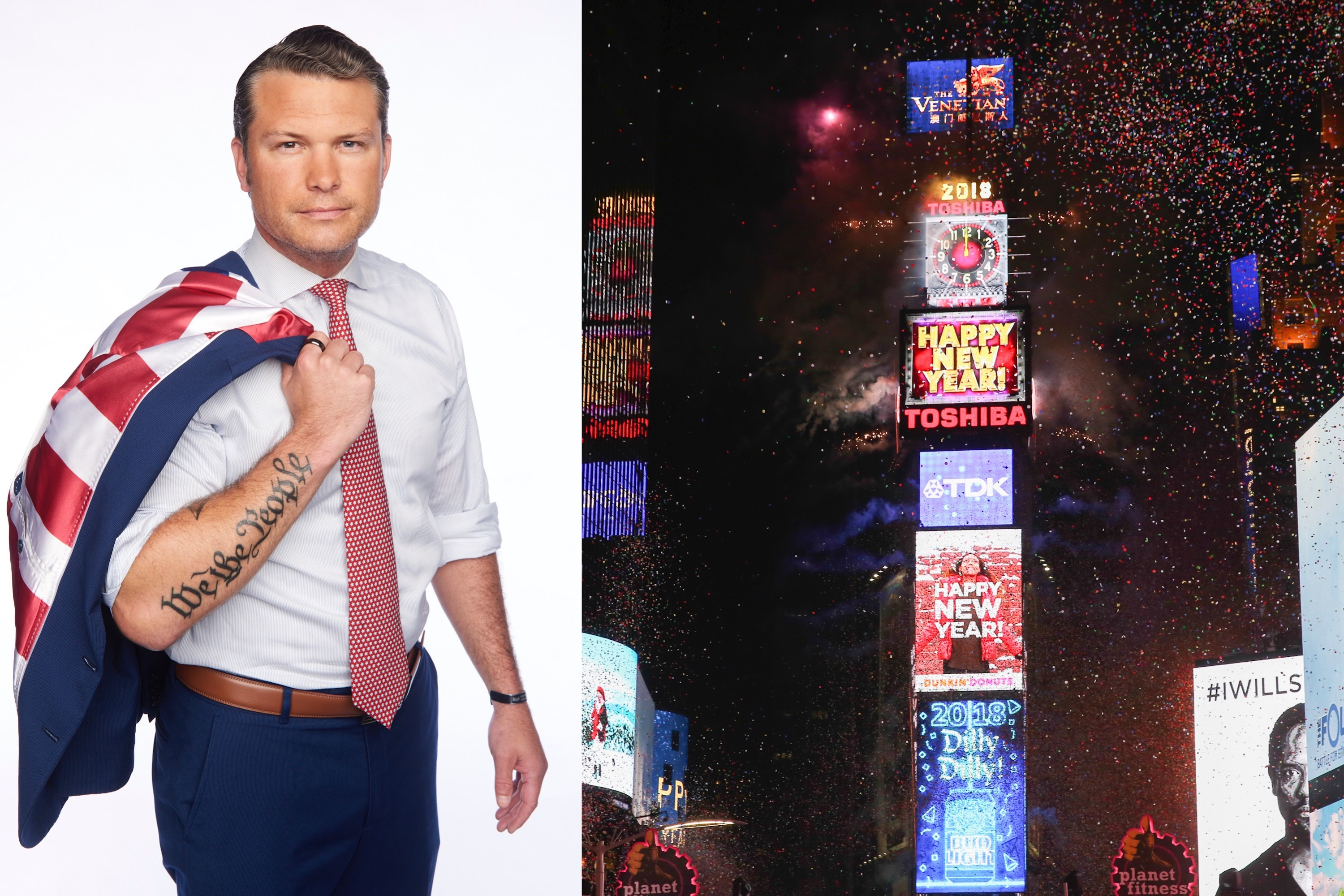Army Vet Pete Hegseth Hosts New Year's Eve Coverage on Fox News