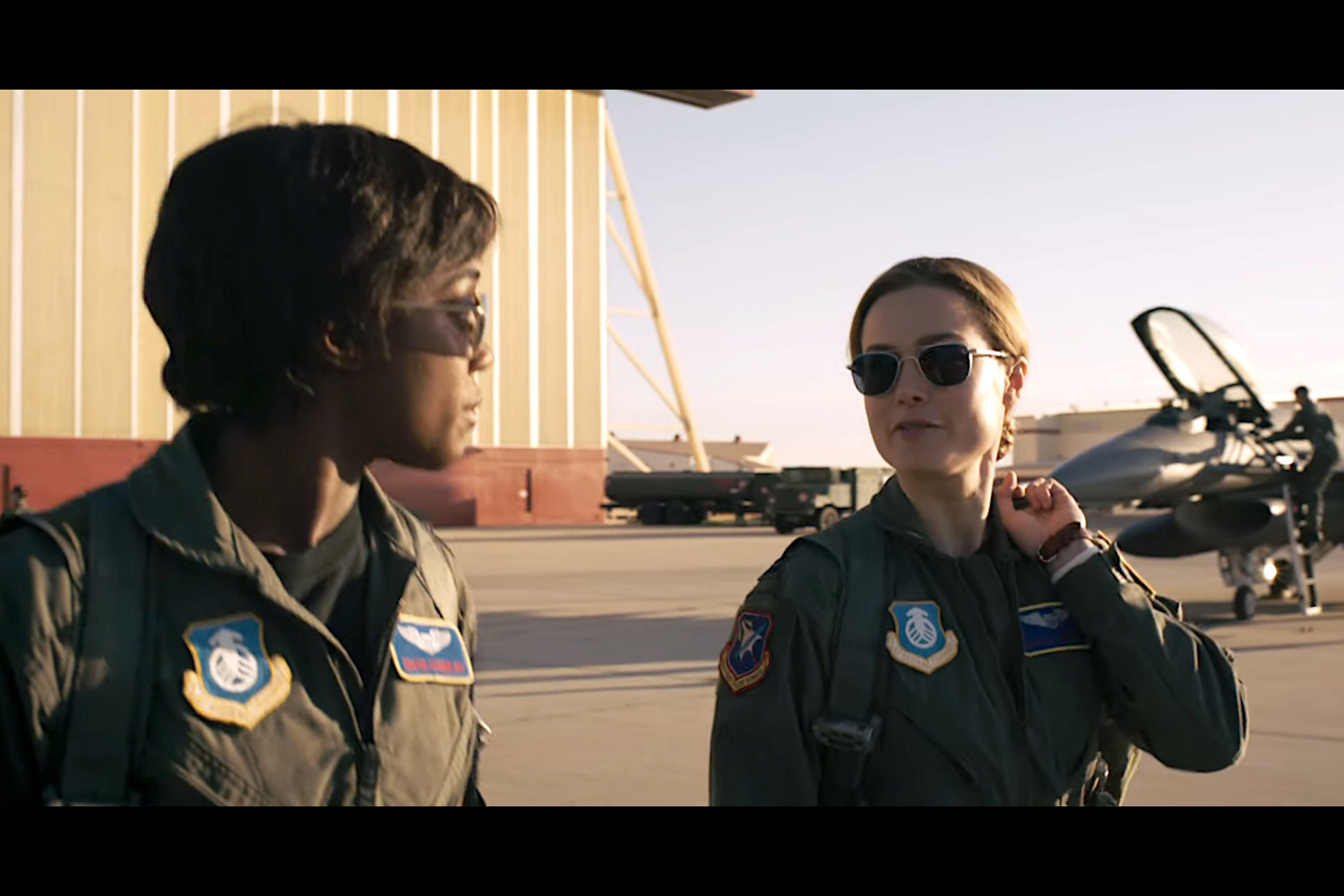 air force pilot carol danvers goes higher  further  faster