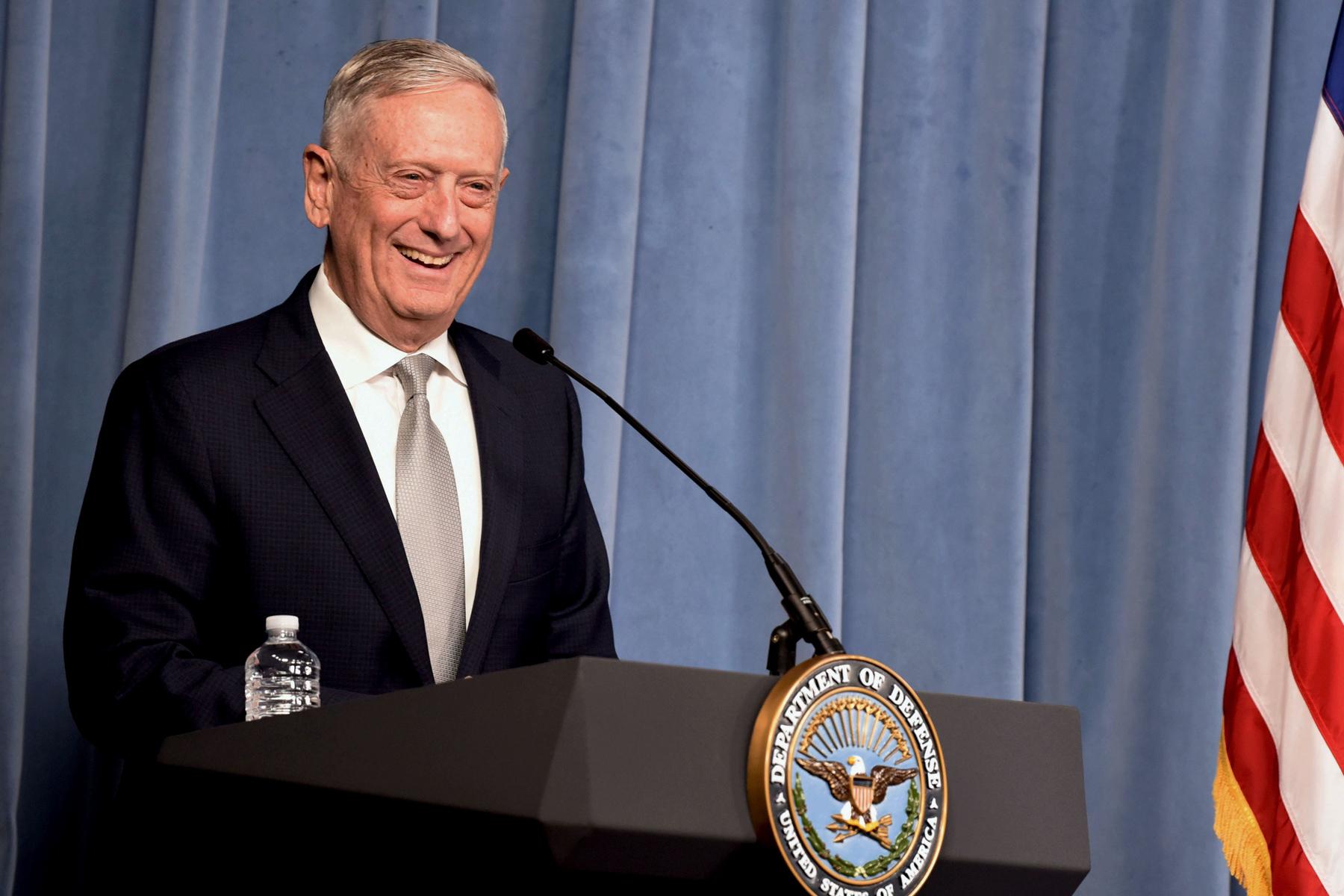 Mattis Joins Advisory Group Run By Former Defense
