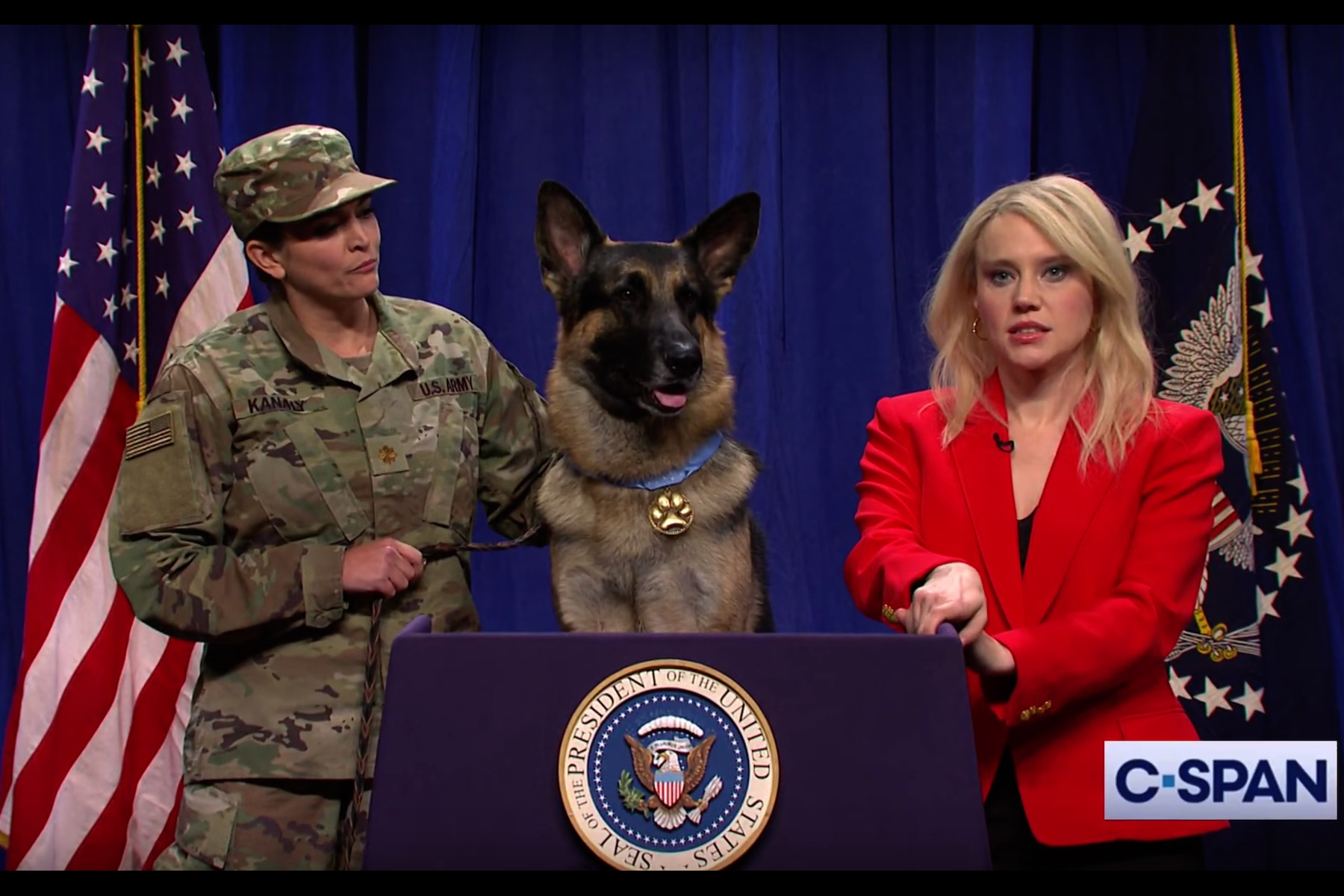 snl  conan the hero dog thinks his medal is lame