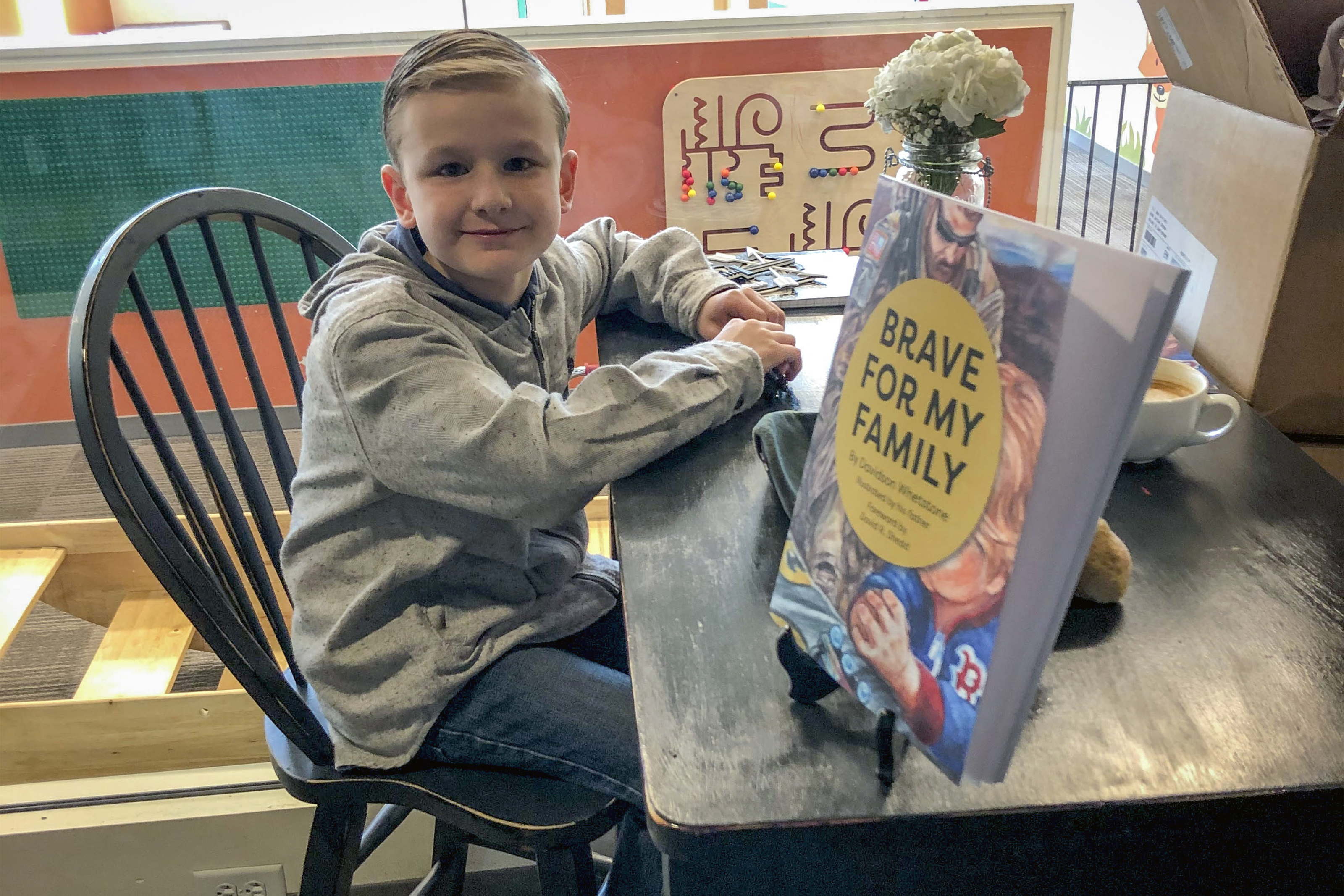 This Military Kid Wrote a Book About Deployment - Illustrated by his Dad