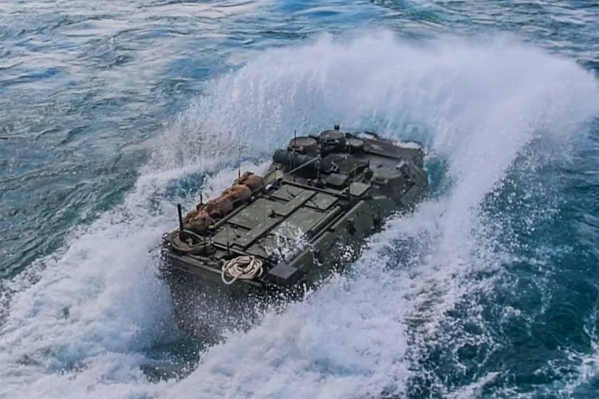 Marine AAV Hit Rough Seas, Rapidly Took on...