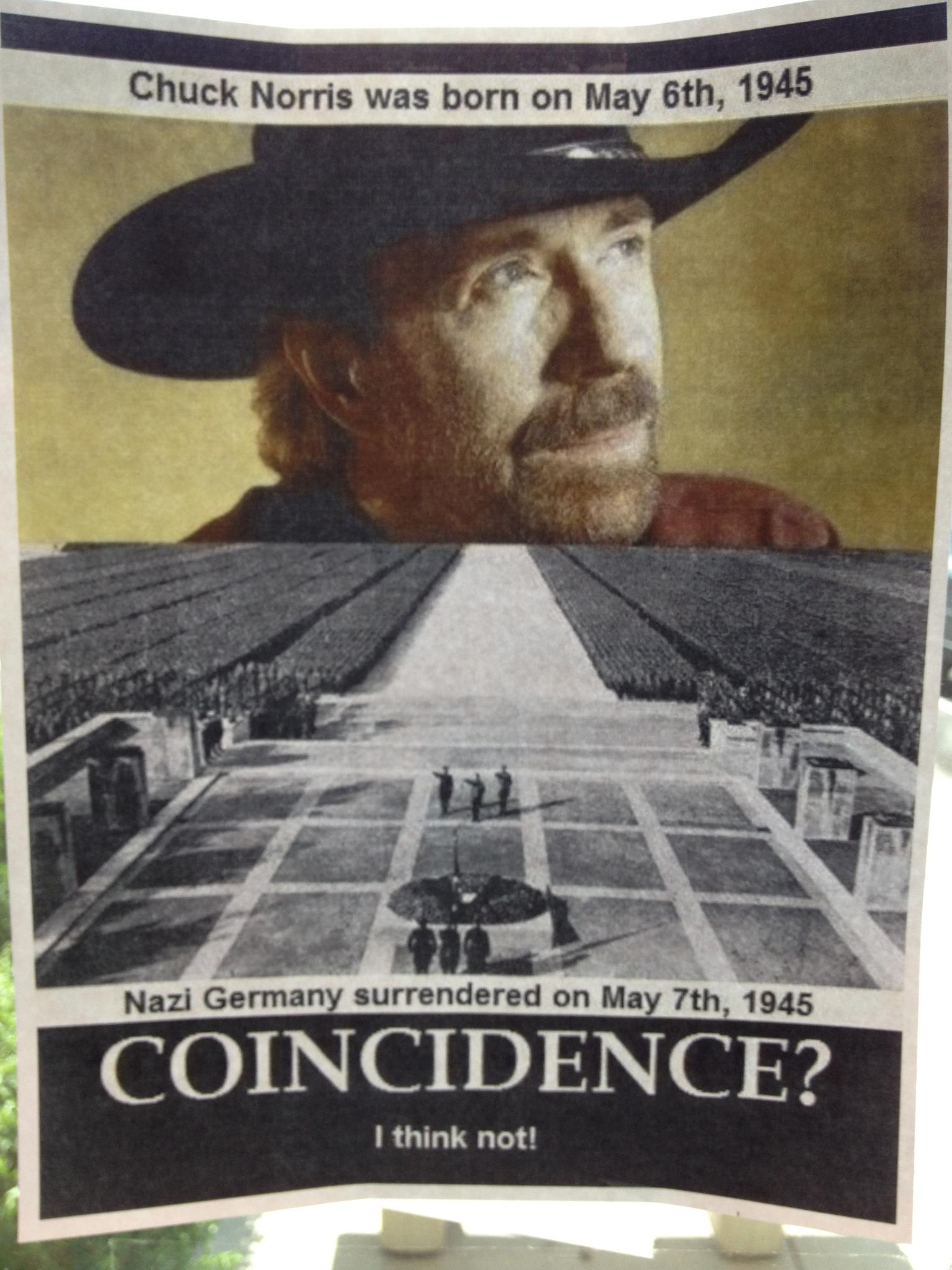 picture it  chuck norris is born  the nazis surrender