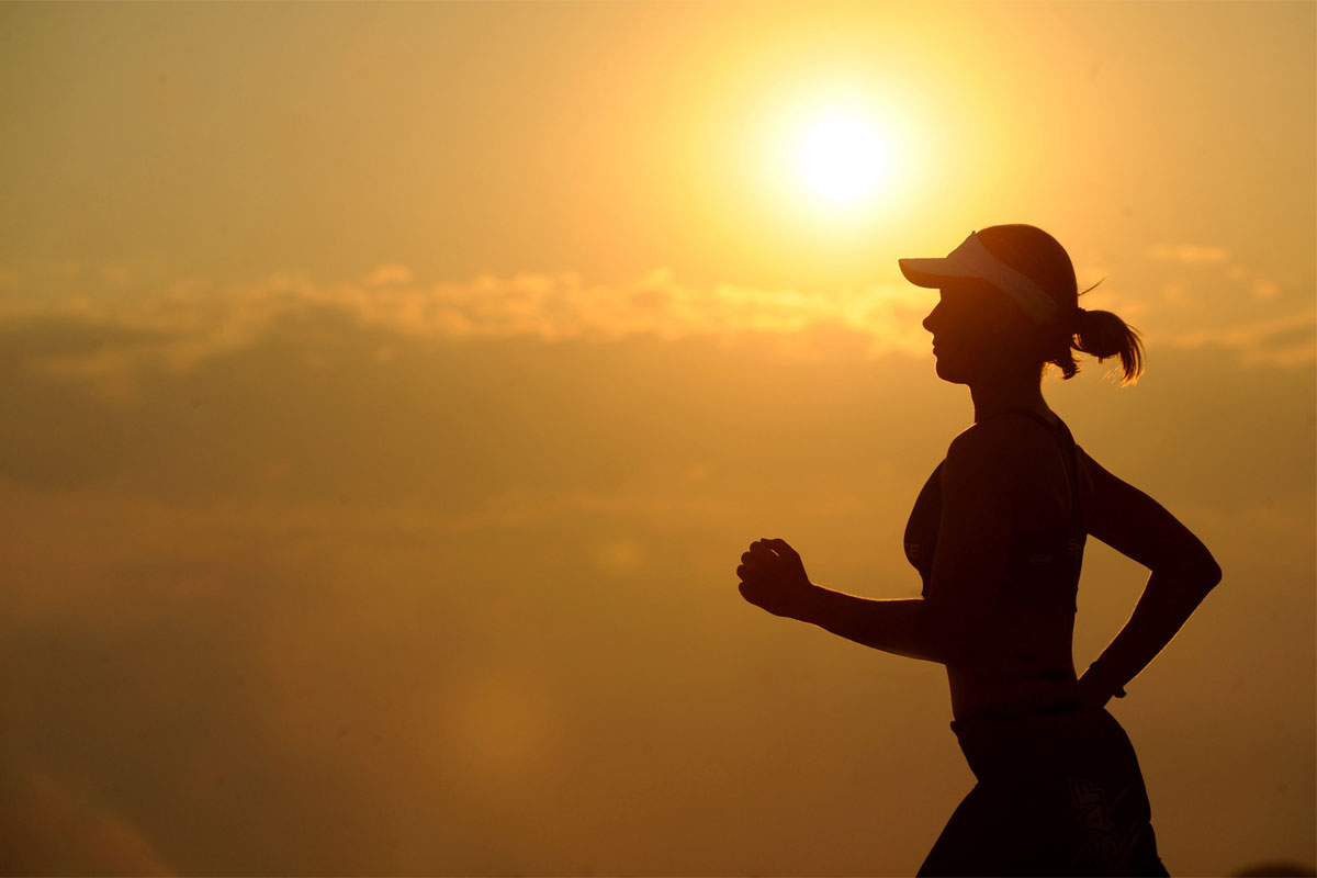 build up your running program with the sun