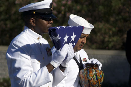 Navy Renders Honors At Funeral Of Ernest Borgnine