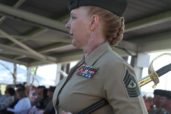 female marine reflects on 3 decades of service