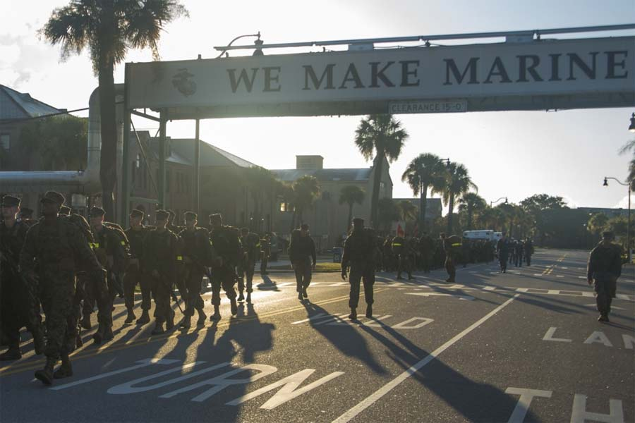 marines discharge recruit injured in parris island