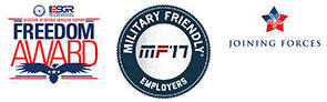 Freedom Award, Military Friendly Employers, and Joining Forces awards