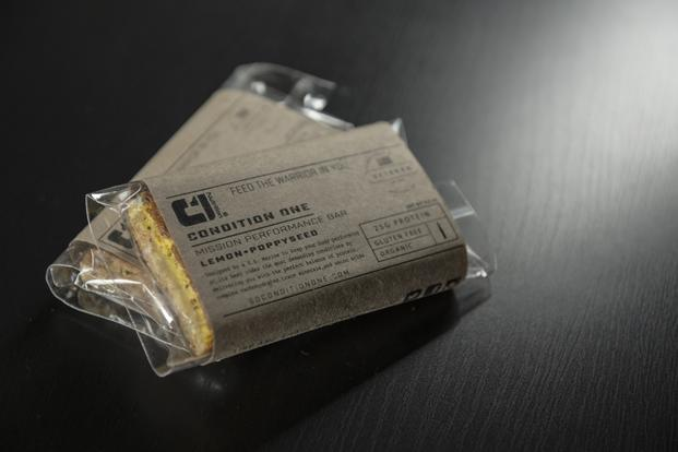 condition One is an energy bar designed by a Marine to deliver the same kind of nutritional punch as a meal, ready-to-eat, in a convenient grab-and-go format. (Courtesy photo)