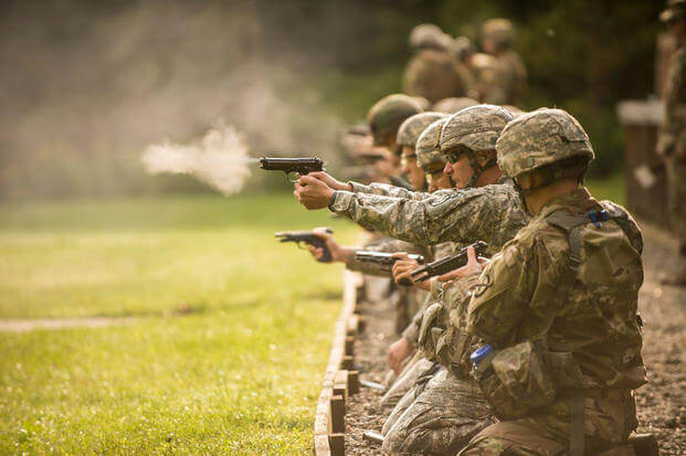 Members from the Vermont Army and Air National Guard participate in The Adjutant General (TAG) Match at Camp Ethan Allen Training Site, Jericho, Vt., Sept. 10, 2017. (U.S. Air National Guard/Jon Alderman)