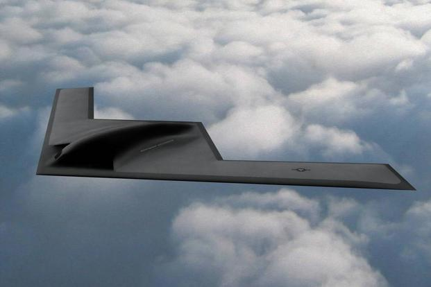 Artists concept of the B-21 Long Range Strike Bomber (Image: Northrop Grumman Corp.)