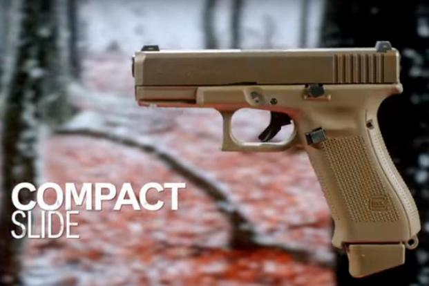 Screen grab from Glock's video on its new G19X pistol. (Glock Inc.)