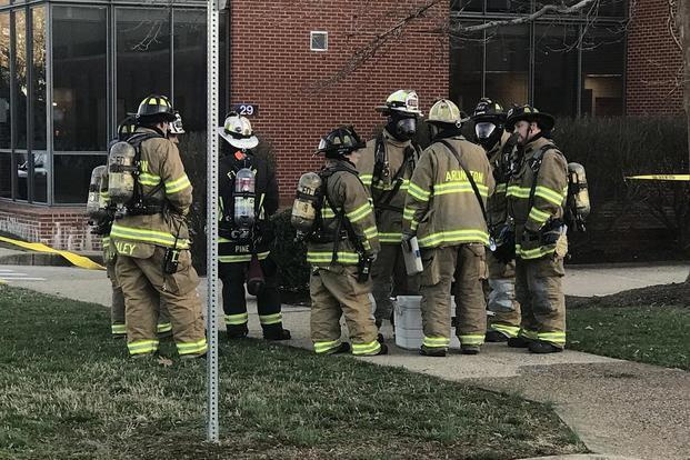 In a series of Tweets, the Arlington County Fire Department, which responded to the scene, said that three people were transported for further examination following their initial report of symptoms (Fort Myer Fire Dept./Twitter)