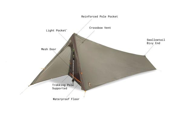 Nemo Equipment Inc.u0027s new Spike Storm Trekking Pole Tent. (Nemo Equipment  sc 1 st  Military.com & Nemo Equipmentu0027s Newest Ultralight Tent Weighs 23 Ounces ...