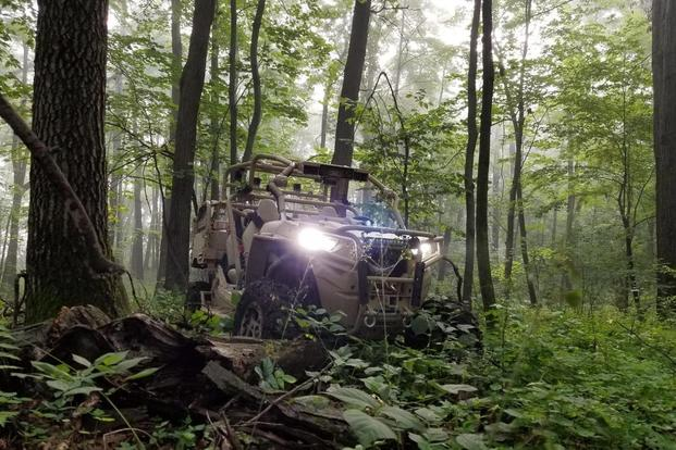 The Polaris MRZR X made its debut at the AUVSI unmanned systems show near Washington, D.C., February 8, 2018. (Image: Courtesy of Polaris)
