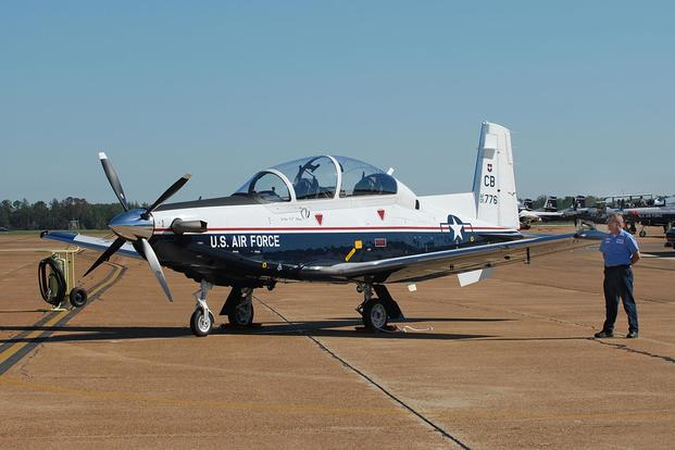 The T-6A Texan II is a single-engine, two-seat primary trainer designed to train Joint Primary Pilot Training, or JPPT, students in basic flying skills common to U.S. Air Force and Navy pilots. Air Force photo