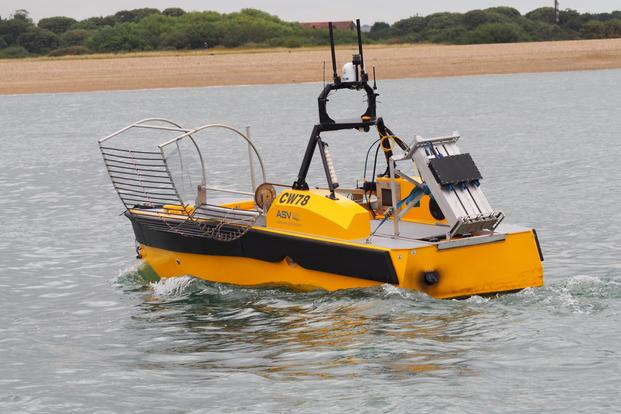 ASV unmanned marine systems' 18-foot, 57-horsepower CW-5, or C-Worker. (Image: ASV)