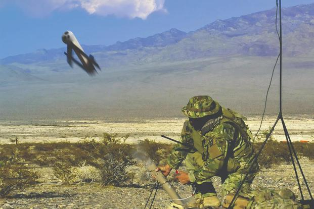 The AeroVironment's Switchblade loitering munition is now in use by the Marine Corps and Army. (Image: Courtesy AeroVironment, Inc.)