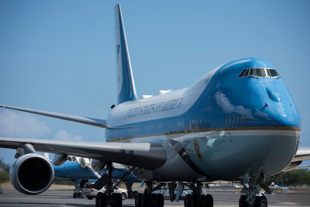 fe63f8fbefa Air Force One refuels at Joint Base Pearl Harbor-Hickam