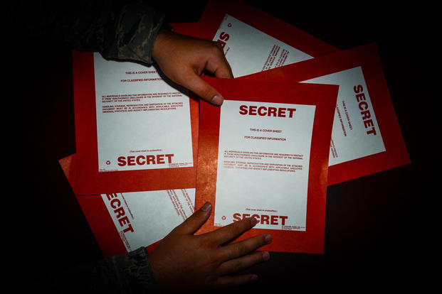 Classified Secret documents