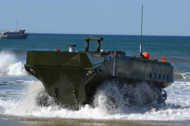 Marine Corps Systems Command awarded a contract to BAE Systems to produce and deliver the Amphibious Combat Vehicle. (U.S. Marine Corps/ Kaitlin Kelly)