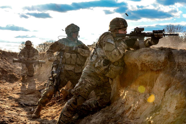 The Defense Department's Close Combat Lethality Task Force is evaluating policies that affect leadership, unit cohesion and even how individuals are selected to serve in close combat units such as infantry squads. (US Army photo)