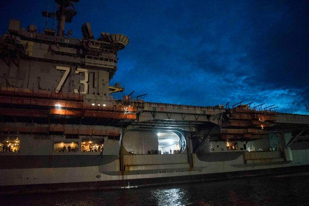 USS George Washington Overhaul Is 25 Percent Complete