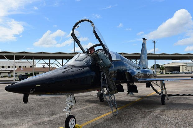 Tyndall Air Force Base evacuated assets to avoid the path of Hurricane Michael, Oct. 8, 2018. The aircraft will reposition to Wright-Patterson Air Force Base, Ohio, and other locations around the country. Evacuated aircraft will return when the storm danger has passed. (U.S. Air Force photo/Cody Miller)