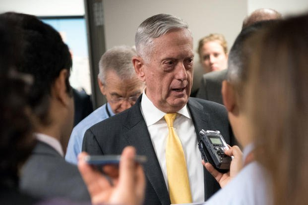 U.S. Secretary of Defense James N. Mattis speaks to reporters at the Pentagon in Washington, D.C., Nov. 21, 2018. (DoD photo/Amber I. Smith)