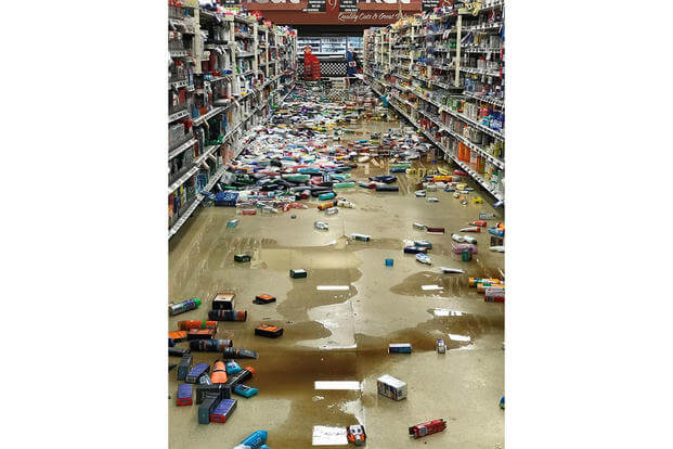 A view of the commissary on Joint Base Elmendorf-Richardson, Alaska after a 7.0 earthquake shook stock from shelves Nov. 30. (U.S. Air Force)
