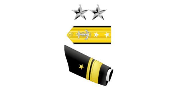 Rear Admiral Upper Half insignia