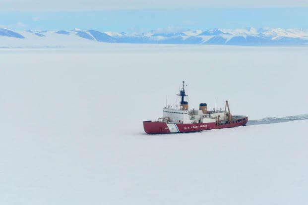 e2278ffa2a1 The Coast Guard Cutter Polar Star breaks ice in McMurdo Sound near  Antarctica on Wednesday,