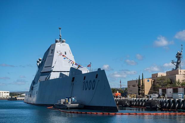 Navy's Futuristic Mega-Destroyer Tests New Weapons