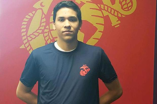 Marine poolee Jose Rodriguez, 18, died after a fitness test at a Maryland recruiting station. Marine Corps photo