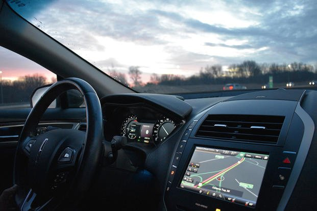 Car dashboard with GPS