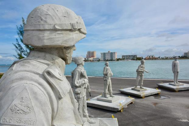 Circle of Heroes is the nation's only memorial of its kind and will eventually have 24 life-size statues depicting troops from all services. The first 12 statues can now be seen about 10 miles off the coast of Clearwater, Fla. (Circle of Heroes)