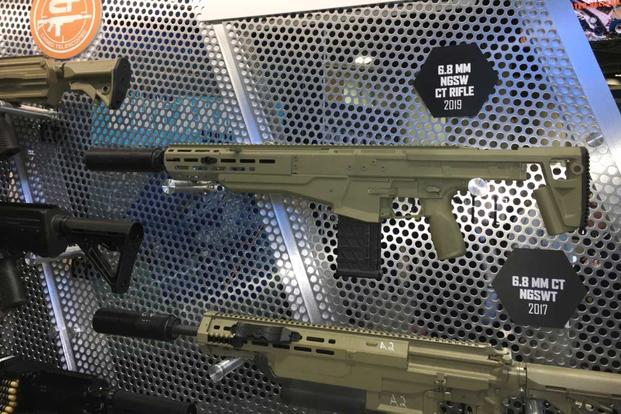 Textron Systems Next Generation Squad Weapon rifle variant. (Matthew Cox/Military.com)