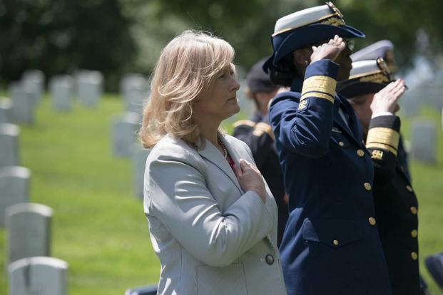 Hollyanne Milley, spouse of the Chief of Staff of the Army Gen. Mark Milley.