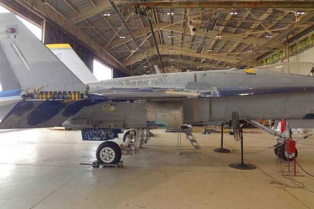 The F/A-18 Hornet Mark Fox flew when he faced a MiG.