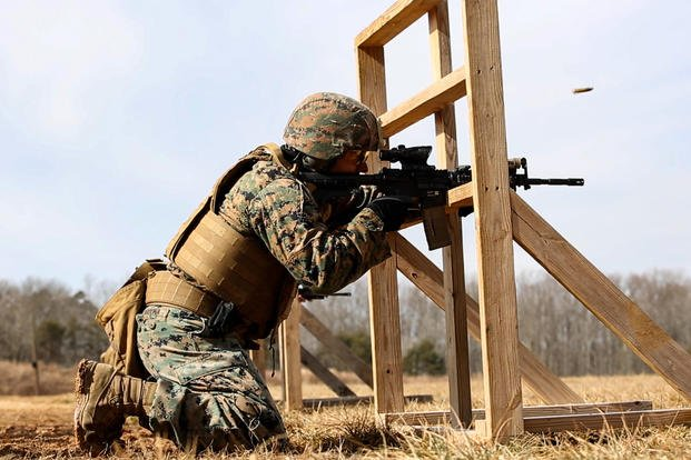 Marines with Weapons Training Battalion conduct the Annual Rifle Qualification