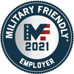 Military Friendly Employer 2021 badge