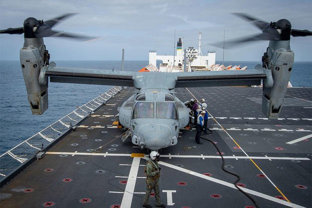 V-22 Osprey hospital ship Mercy