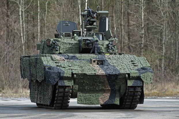 Pictured is the AJAX prototype tank.