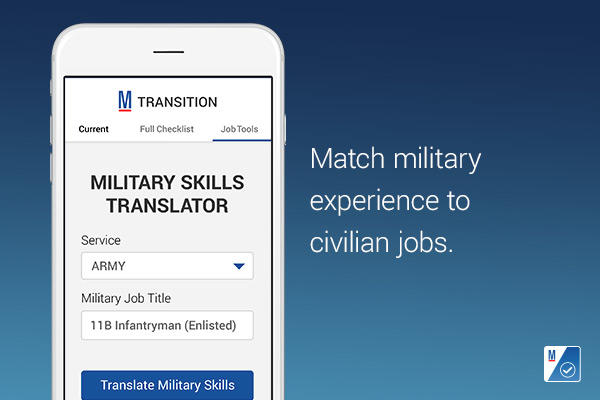 Match military experience to civilian jobs
