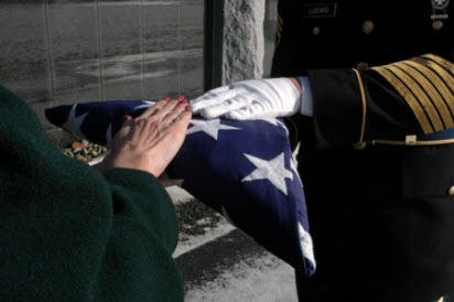 military funeral honors flag