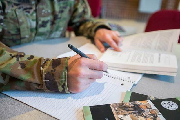 FILE -- Service members, veterans and military retirees have a number of financial aid options for education. (U.S. Army/Nell King)
