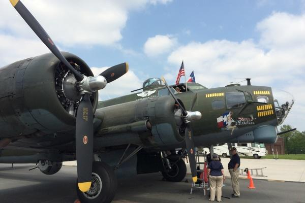 The World War II-era B-17G Texas Raiders is one of just a dozen or so Flying Fortresses still flying. The plane is owned and operated by the Texas-based nonprofit Commemorative Air Force. (Photo by Brendan McGarry/Military.com)