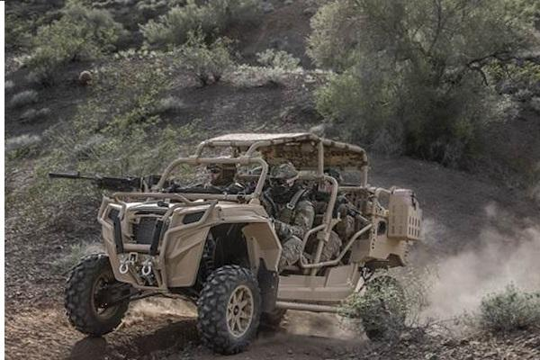 The MRZR all-terrain vehicle, or ATV, made by Polaris. (Photo courtesy Polaris Defense)