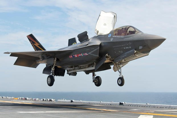 F-35B lands on aircraft carrier